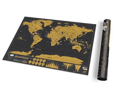 Scratch Map Deluxe Travel Edition