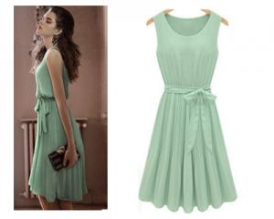 Vintage Chiffon Sleeveless Dress
