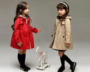 European Trench Coat for Kids